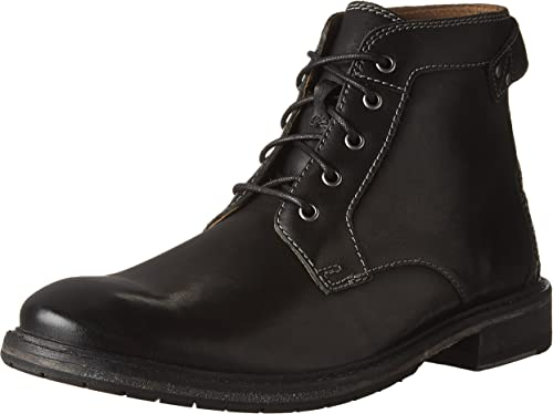 CLARKS Hommes's Clarkdale Bud noir Leather démarrage démarrage démarrage 0d3
