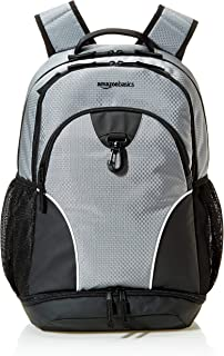 Amazonbasics Sports Backpack, Silver, Unisex