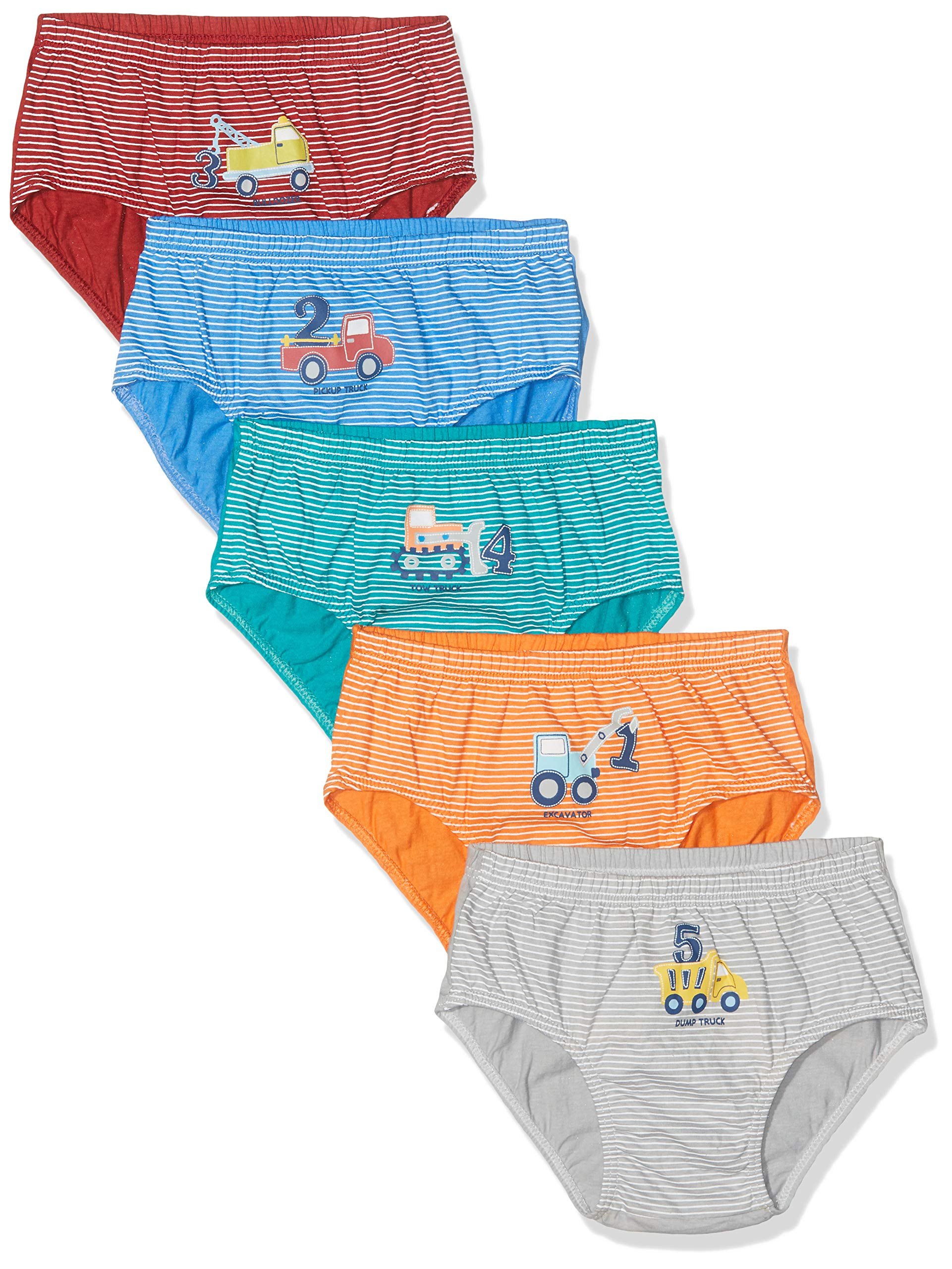 Espoy Boys Underwear Briefs Boxer Shorts Car Truck 100/% Cotton Elasticated Waist Kids Character Underpants Trunks Children Boxers Pants Ages 2-12 Years Pack of 5