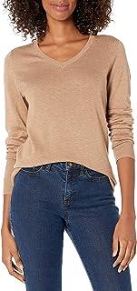 Amazon Essentials suéter ligero con cuello en V para mujer