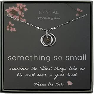 EFYTAL New Mom Gifts, Sterling Silver Necklace for Mother and Baby Girl/Boy, First Time Mom Mother's Day Jewelry Gift Ideas