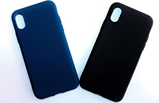 Ultra Thin Multi Color Matte Soft Silicone TPU Back Cover Phone Case For iPhone X/XS (BLACK)