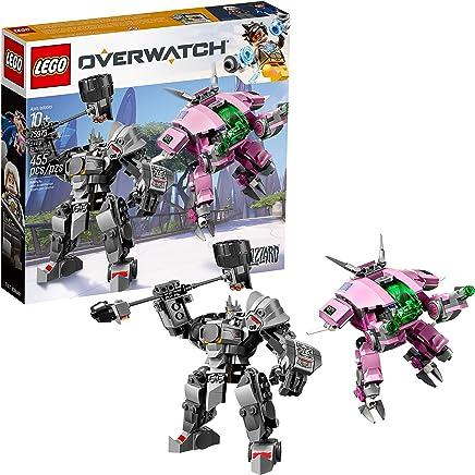 LEGO 6250956 Overwatch D.Va and Reinhardt 75973 Building Kit , New 2019 (455 Piece), Multicolor