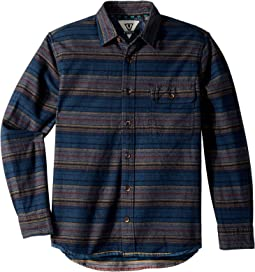 VISSLA Kids - Harbor Mouth Long Sleeve Woven Top (Big Kids)