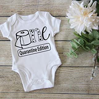 My 1st Birthday Onesie for Boy or Girl - Funny Birthday Onesie Toddler - First Quarantined Bday Bodysuit - Gift for 1 year old - OT
