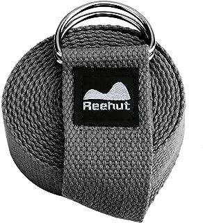Reehut ヨガストラップ ヨガベルト (183、305cm/6、 10フィート) 調節可能なD字型のリング バックル付き フィットネス エクササイズ ストレッチ 柔軟運動 理学療法用