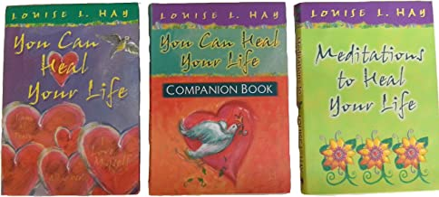 Louise Hay 3 Book Set :You Can Heal Your Life / Companion Book / Meditations to Heal Your Life (Gift Edition)