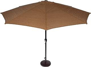 Coolaroo Market Umbrella, Patio Shade Umbrella, 90% UV Block, Round 11' with Adjustable Tilt, Mocha