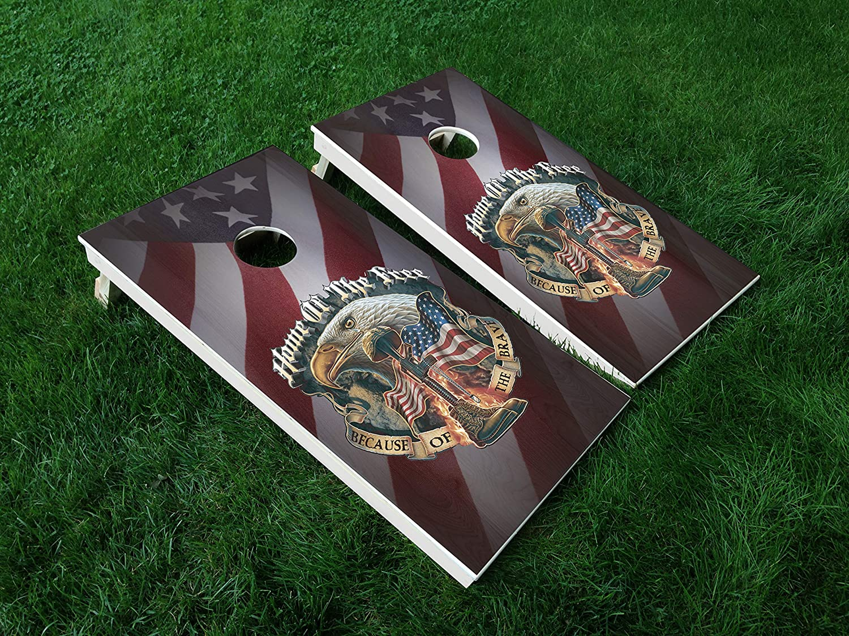 Distressed America 16 USA Flag New mail order Cornhole Dec Vinyl Board WRAP Classic Set