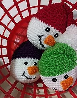 Crochet Snowman, Christmas Bowl Filler, Christmas Decoration, Christmas Ornament