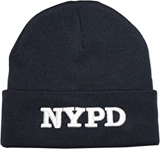 Best NYPD Beanie Winter Hat New York Police Department Navy White Review