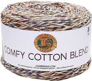 Lion Brand Yarn 756-710 Comfy Cotton Blend Yarn, Driftwood