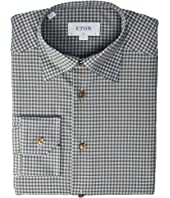 Eton - Slim Fit Gingham Button and Piping Detail Shirt
