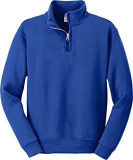 youth 8 oz 50/50 NuBlend Quarter-Zip Cadet Collar Sweatshirt (995Y)