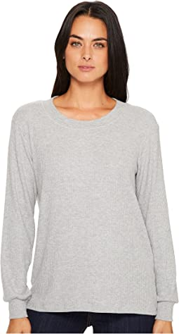 Michael Stars - Super Soft Madison Rib Long Sleeve Scoop Neck Pullover