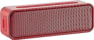 Amazon Basics – Bluetooth Stereo Lautsprecher mit wasserabweisendem Design, 9 W, Rot