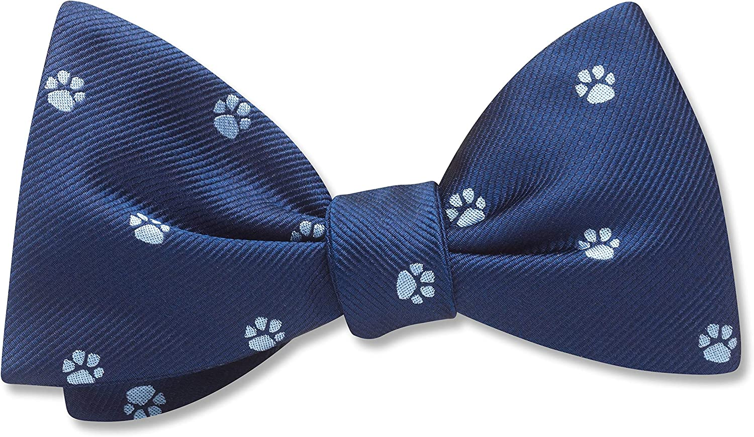 Afoot Blue Conversational, Men's Bow Tie, Handmade in the USA