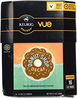 VUE Coffee People Donut Shop DECAF (2 Boxes of 16 VUE Packs)