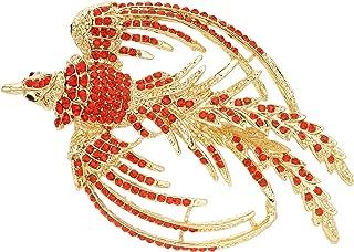 Women's Austrian Crystal Art Deco Flying Phoenix Rebirth Brooch Pin