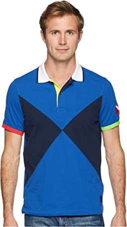 Short Sleeve Sail Flag Pieced Polo