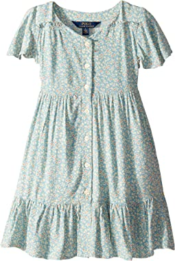 Shirred Floral Dress (Little Kids)