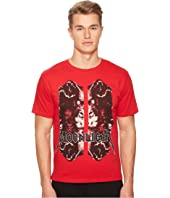 The Kooples - Red Moonlight T-shirt with Wolf Motif
