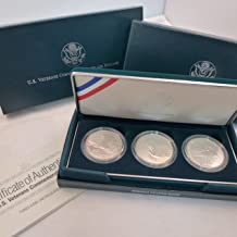 1994 W Commemorative Set Veterans Silver Dollars Set of 3 Coins Uncirculated