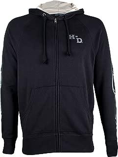 Deadwood Harley-Davidson® Men/'s Old Hat Black Charcoal Zip-Up Hoodie Sweatshirt