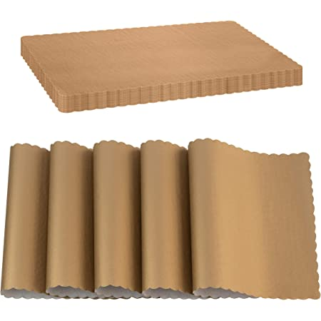 Amazon Com Juvale Disposable Placemats Brown Kraft Paper 10 X 14 In 100 Pack Home Kitchen