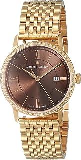 Maurice Lacroix - Reloj de cuarzo Maurice Lacroix Eliros Date Ladies, Oro 24k, Diamantes, 30mm