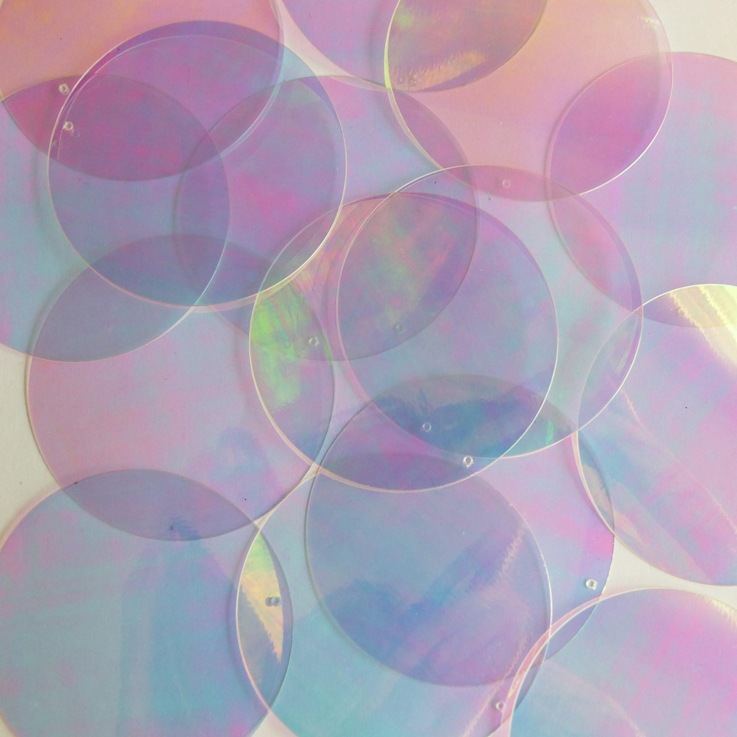 10mm Flat Sequins Premium Mirror Crystal Iridiscent Reflective