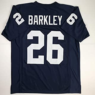 Unsigned Saquon Barkley Penn State Blue College Custom Stitched Football Jersey Size Men`s XL New No Brands/Logos