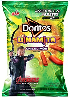 Doritos Dinamita Rolled Tortilla Chips, Chile Limon, 9.25 Ounce (Pack of 10)