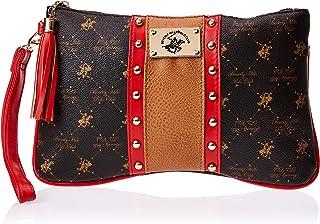BHPC Womens Wristlet Bag, Brown(BN/TN/RD) - WBR6292RVA