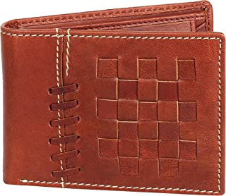 OMAX Fashion High Quality Stylish Designer Handmade Genuine Leather Bifold Brown Wallet for Young Men Boys with Coin Pocket and extra Credit Cards holder Slots - A Perfect Gift