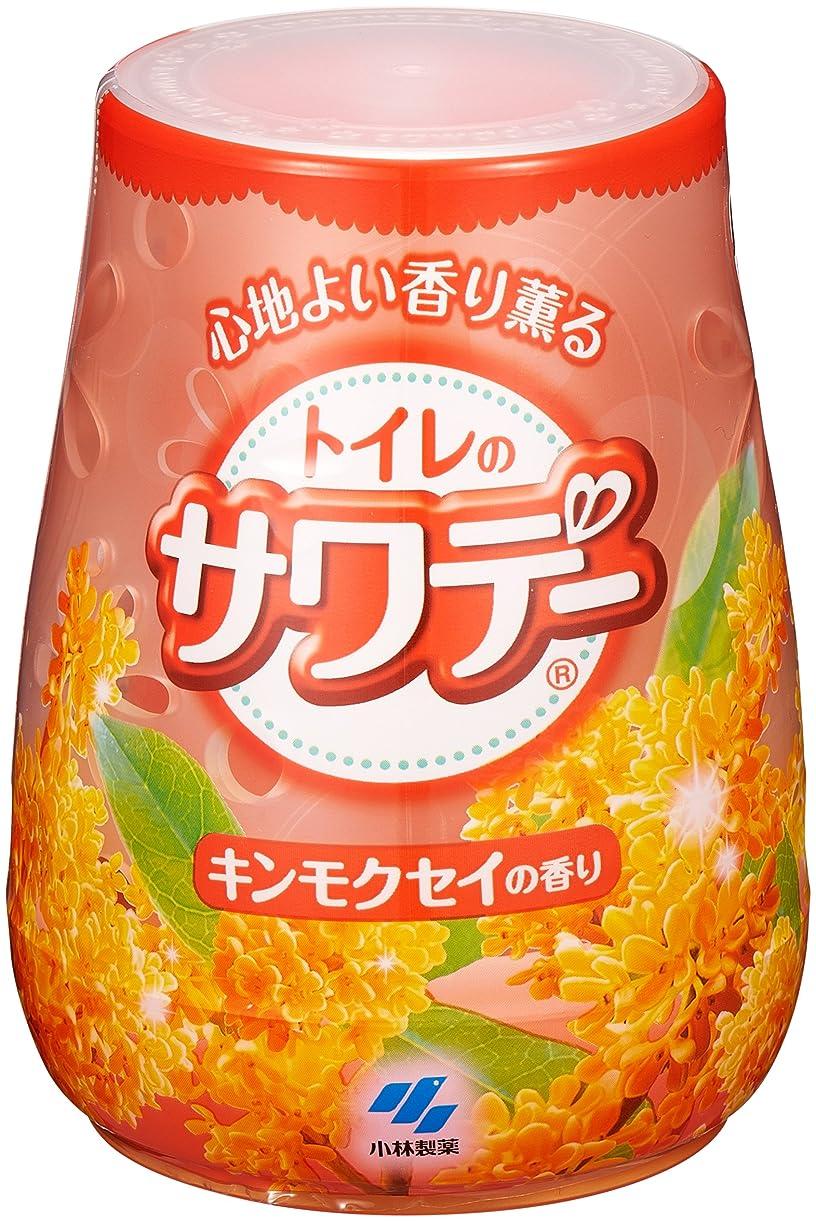 パウダー区保証するサワデー 消臭芳香剤 トイレ用 本体 こころ安らぐキンモクセイの香り 140g
