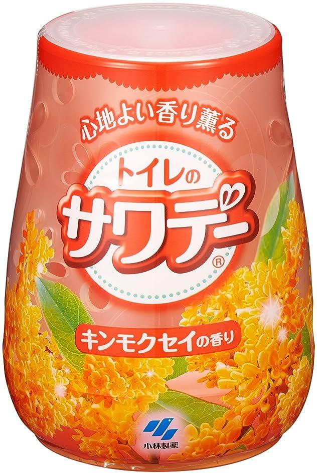 熱意マリナー準備するサワデー 消臭芳香剤 トイレ用 本体 こころ安らぐキンモクセイの香り 140g