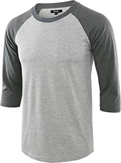 Estepoba Men's Casual Basic Vintage 3/4 Raglan Sleeve Jersey Baseball Tee Shirt