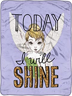 "Disney's Tinkerbell, ""Shine Today"" Micro Raschel Throw Blanket, 46"" x 60"", Multi Color"