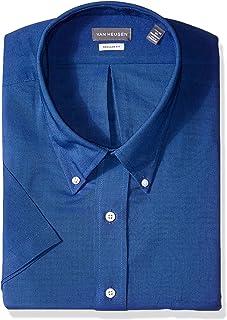 2934ffdf97909 Van Heusen Mens Dress Shirts Short Sleeve Oxford Solid Button Down Collar