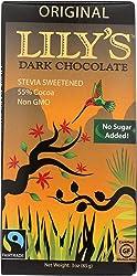 Lily's Chocolate, Bar Chocolate Dark Stevia Fair Trade, 3 Ounce