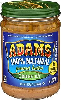 Adams Food, Peanut Butter Crunchy Salt Organic, 16 Ounce