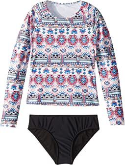Aztec Folk Long Sleeve Surf Set (Little Kids/Big Kids)