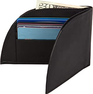 Front Pocket Men's Leather Wallet - Patented Design With ID And 6 Card Slots