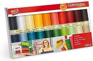 Gutermann GUT_734610-1 734610-1 Nähgarn-Set 100 m x 20 Spulen, mehrfarbig, zutreffend