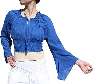 Svenine Brand Sexy Crop Smock Top Medieval Ladies Light Cotton Pixie Shirt