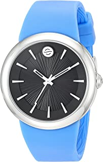 Philip Stein ' Japanese Quartz Stainless Steel and Silicone Watch, Color:Blue (Model: F36S-LCB-BL)