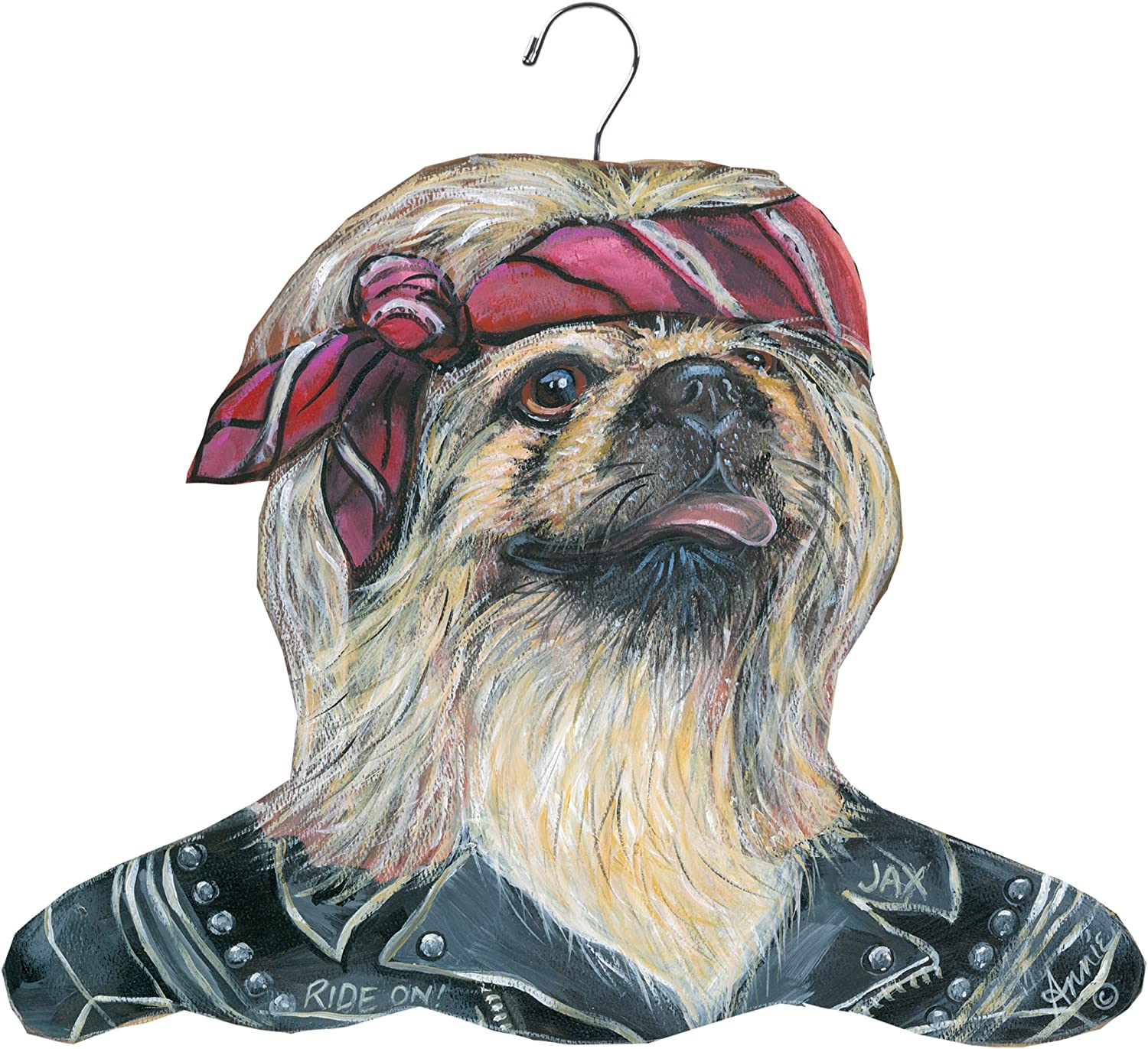 The Stupell Home Decor Collection Pekingese Biker Hanger