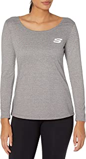 قميص Skechers للنساء بتصميم ملتف طويل الأكمام