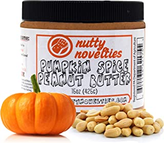 Nutty Novelties Fall Special Pumpkin Spice Peanut Butter - High Protein, Low Sugar Healthy Peanut Butter - Cholesterol-Fre...